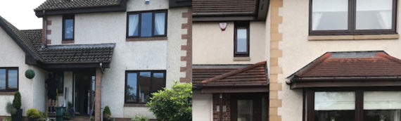 Rosewood Tilt and Turn and Casement Windows in Central Scotland